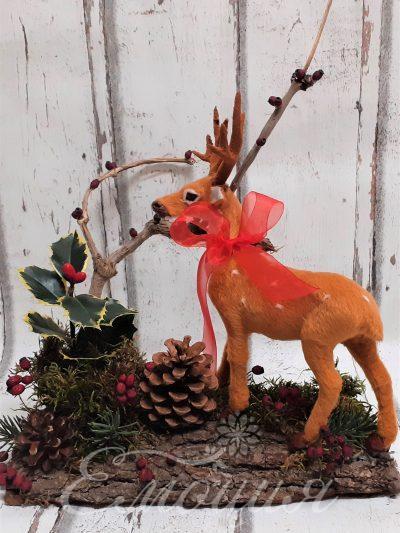 Коледно еленче в парка
